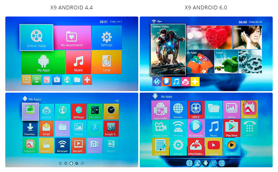 Everycom X9 Android interface